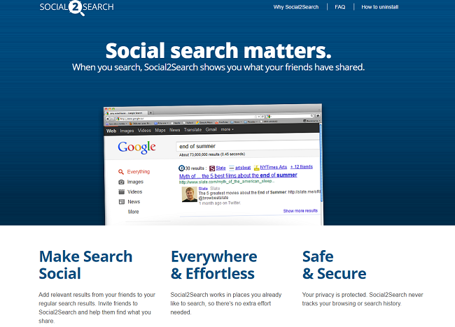 Social2Search website