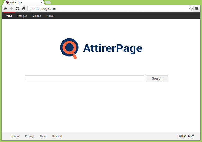 attirerpage.com browser hijacker