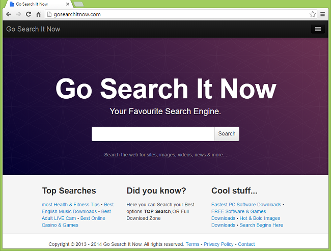 How to stop Gosearchit.com redirects