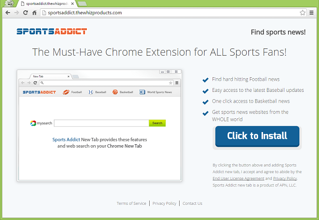 How to uninstall Sports Addict toolbar and stop search.mysearch.com redirects