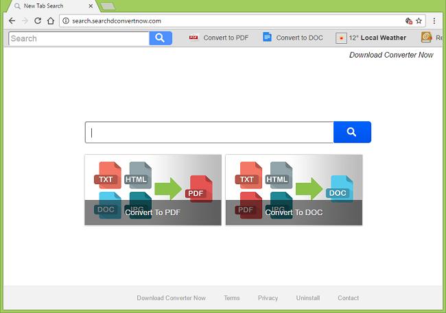 Cómo dejar de http://search.searchdconvertnow.com/ (Descargar convertidor Ahora) redirecciones