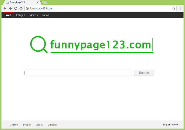 How to stop http://funnypage123.com homepage from appearing on browsers