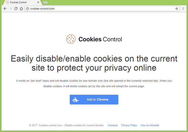 "How to remove Cookies Control (""This extension is managed and cannot be removed or disabled."""