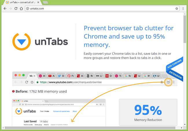 How to uninstall unTabs (This extension is managed and cannot be removed or disabled.)