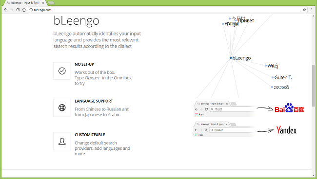 How to stop bLeengo search redirects