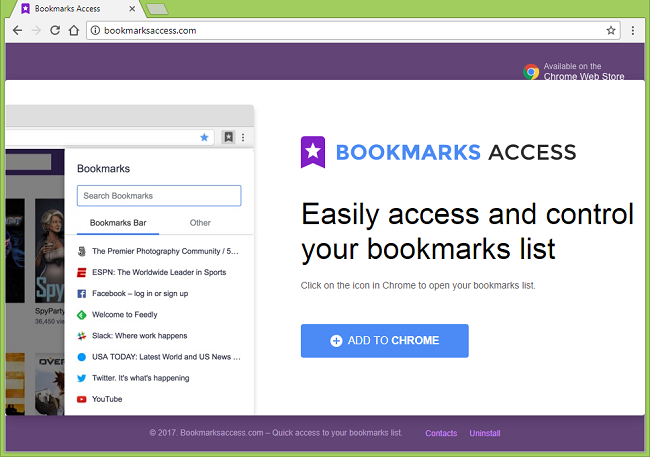 "How to remove Bookmarks Access (""This extension is managed and cannot be removed or disabled."""