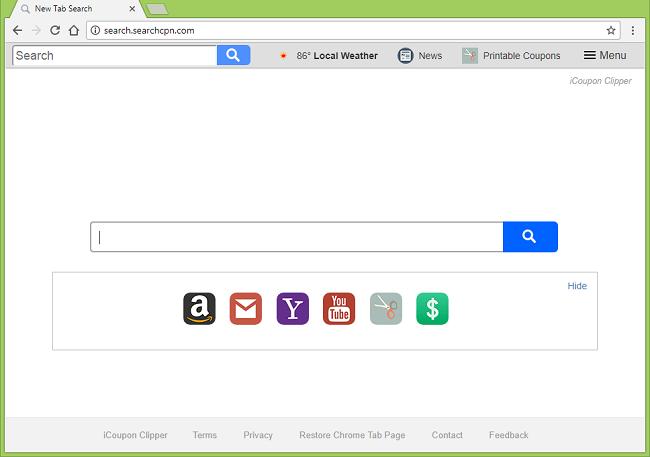 Comment arrêter http://search.searchcpn.com/ (iCoupon Clipper) réoriente