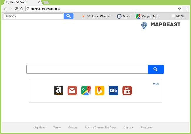 Comment arrêter http://search.searchmabb.com/ (Map Beast) réoriente