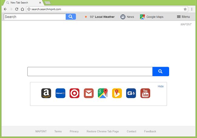 Como parar http://search.searchmpnt/ (MAPSNT) redirecionamentos