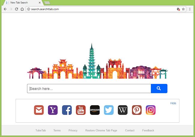 Como parar http://search.searchttab.com/ (TubeTab) redirecionamentos