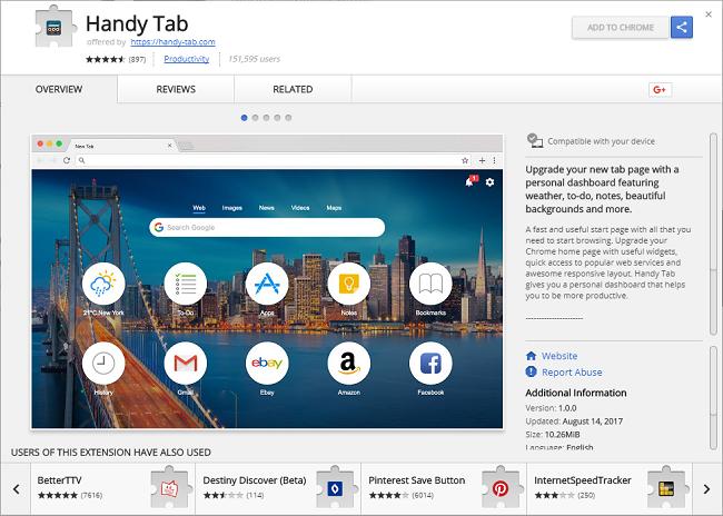 "How to delete Handy Tab 1.0.7 (ID: clgckgfbhciacomhlchmgdnplmdiadbj)"""