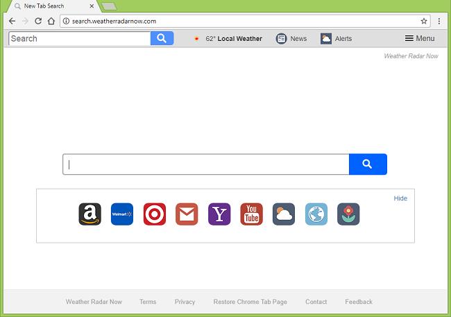 How to delete search.weatherradarnow.com virus