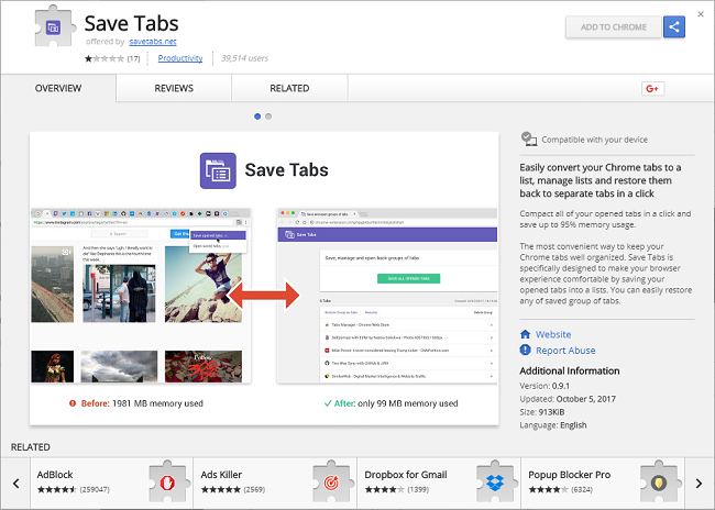 """How to remove Save Tabs 0.9.0 (ID: dgjepfldodmdfmdidhhgamnklbdibndi ; """"This extension is managed and cannot be removed or disabled."""""""