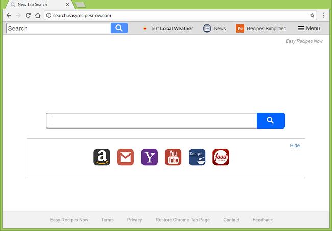 How to delete http://search.easyrecipesnow.com/ virus