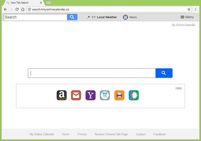 How to delete http://search.hmyonlinecalendar.co/ (My Online Calendar) virus