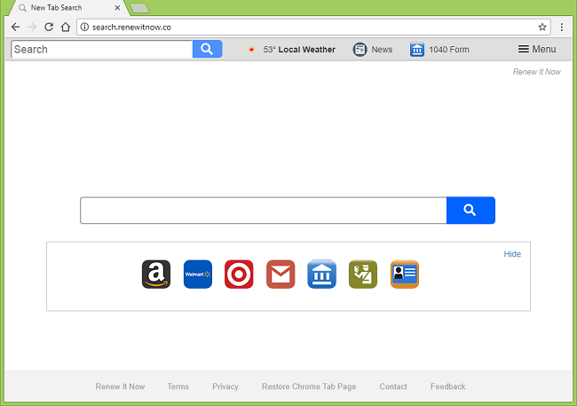 How to delete http://search.renewitnow.co/ (Renew It Now) virus