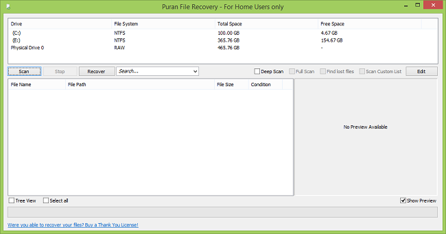 L'utilisation Puran File Recovery