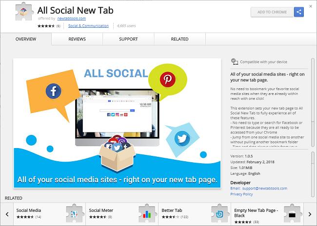 How to delete All Social New Tab: chrome-extension://ehdjbbmdmchgdpmonoemkkapdodkpddh/sc_new_tab.html virus