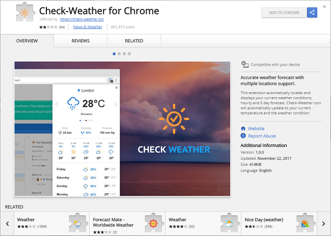 How to delete Check-Weather for Chrome 1.0.0 (ID: apfkjncelobloojfkbmendgmfgnfmbla) virus