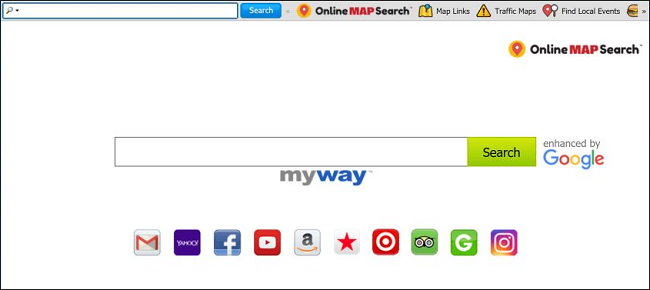 How to delete onlinemapsearch (myway, enhanced by google) virus