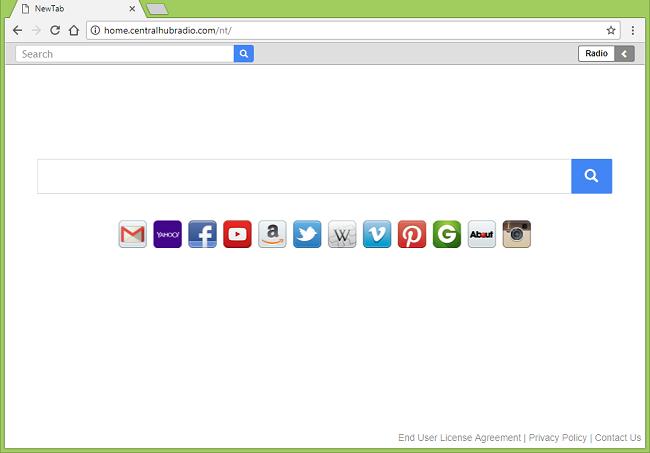Delete http://home.centralhubradio.com/nt/, http://search.centralhubradio.com/search?q=[search-terms] virus