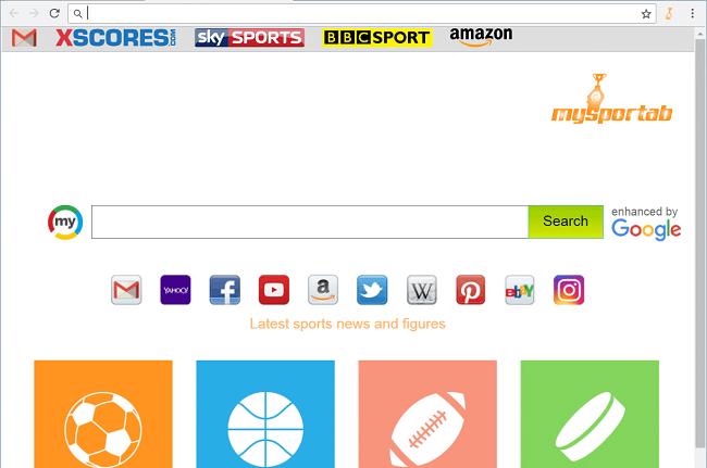 Delete My Sport Tab virus