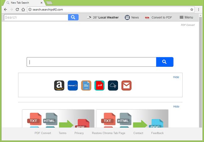 How to delete http://search.searchipdf2.com (PDF Convert) virus