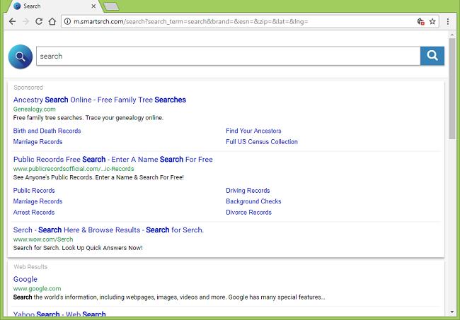 Delete http://m.smartsrch.com/search virus