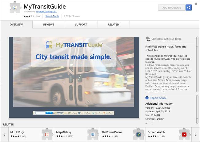 Delete My Transit Guide virus