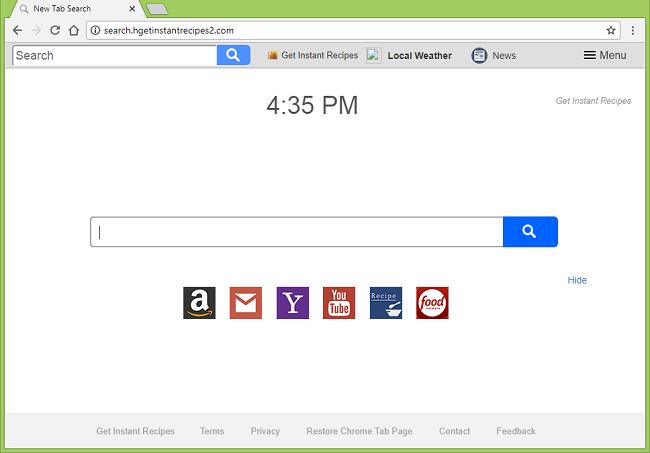 Como excluir http://search.hgetinstantrecipes2.com/?uc = vírus (Get Instant Receitas New Tab)