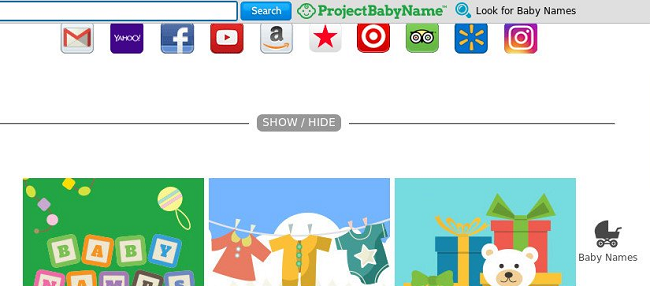 delete ProjectBabyName toolbar virus