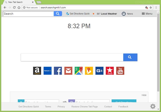 Delete http://search.searchgmfs1.com/?uc= new tab virus