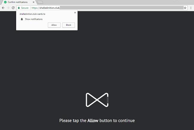 Delete https://shalledinition.club virus notifications