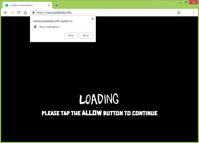 Delete https://newsupdatesky.info, tgb7.newsupdatesky.info, djoq.newsupdatesky.info,  lbei.newsupdatesky.info,  gpok.newsupdatesky.info,  b0zv.newsupdatesky.info virus notifications