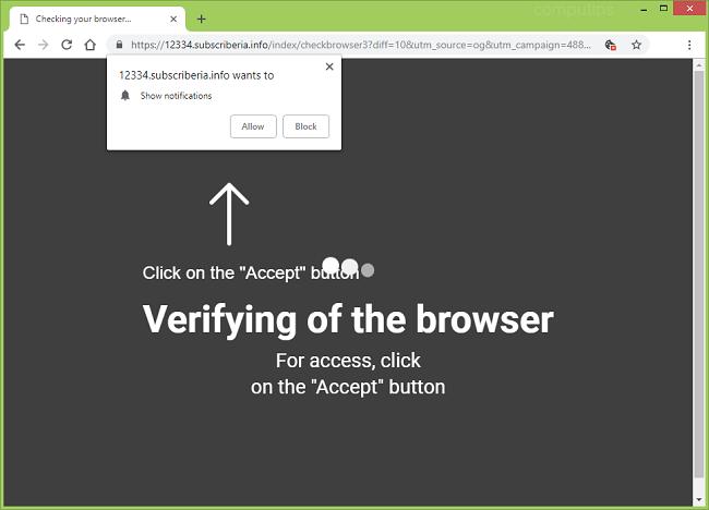 Delete https://subscriberia.info virus notifications