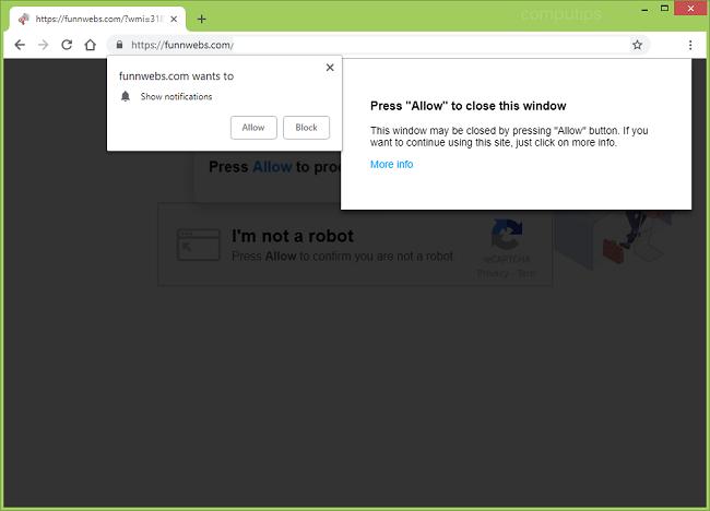 eliminar https://funnwebs.com notificaciones de virus (hallazgos webs virus de la com)