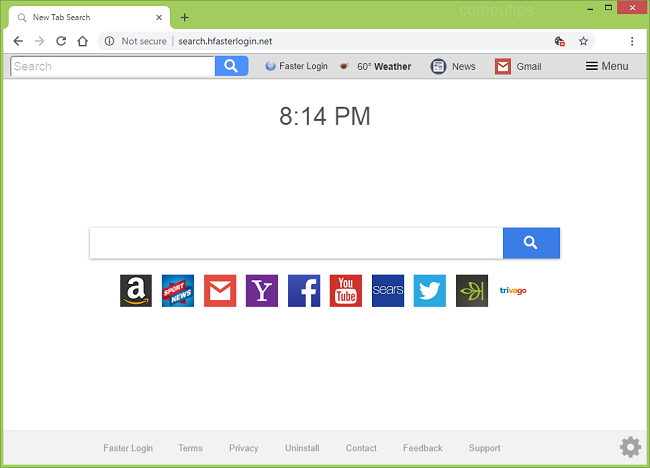 how to delete http://search.hfasterlogin.net/?uc virus (faster login net virus)