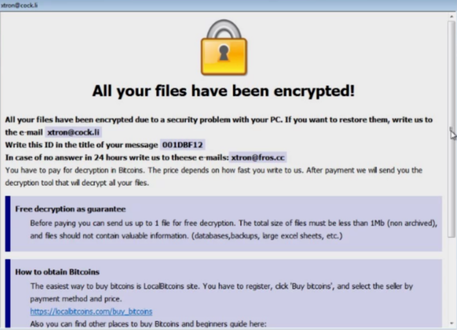 how to remove AUF ransomware