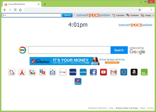 "delete Convert Docs Online new tab virus (My way virus, ""enhanced by Google"") from Windows and Macbook"