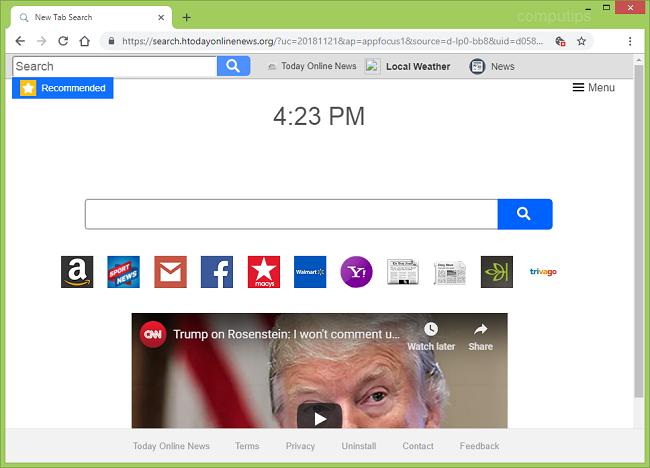 delete Today Online News virus (https://search.htodayonlinenews.org/?uc=20181121&ap=appfocus1&source=d-lp0-bb8)