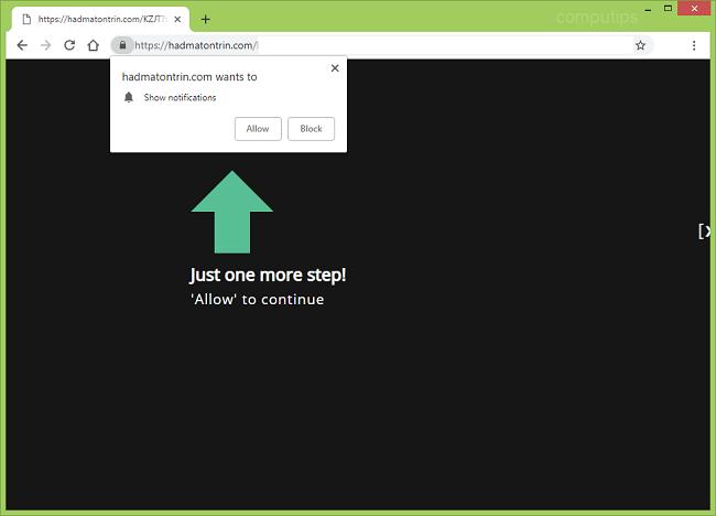 remove Hadmatontrin.com virus