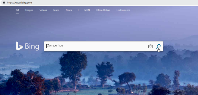 How to remove bing search