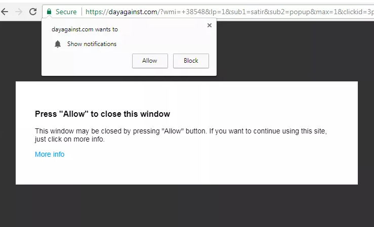 Delete https://Dayagainst.com, inm3.Dayagainst.com, remove Dayagainst.com, fbur.Dayagainst.com, jtv9.Dayagainst.com, gpkv.Dayagainst.com, r75w.Dayagainst.com virus notifications