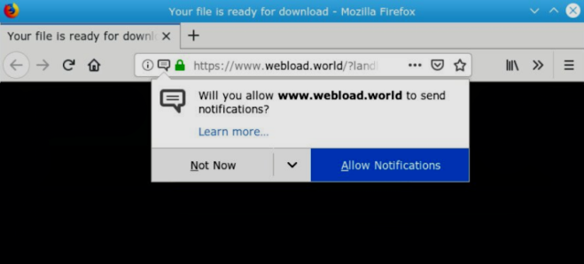 How to remove Webload.world ads