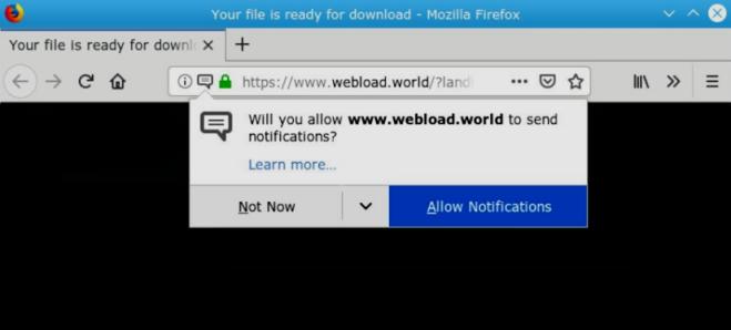 Comment supprimer Webload.world ads