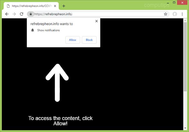 Delete https://refrebrepheon.info, exhj.refrebrepheon.info, sa2x.refrebrepheon.info, p6.refrebrepheon.info, abjf.refrebrepheon.info virus notifications