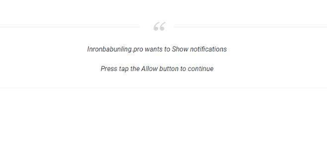 Como remover Inronbabunling.pro