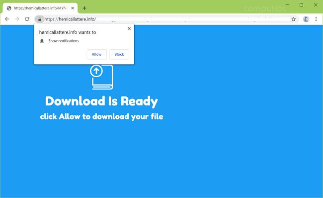Delete https://hemicallattere.info virus notifications