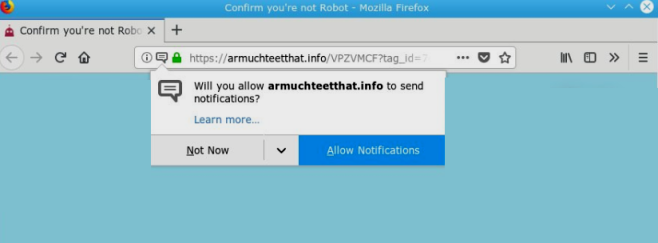 How to remove Armuchteetthat.info ads
