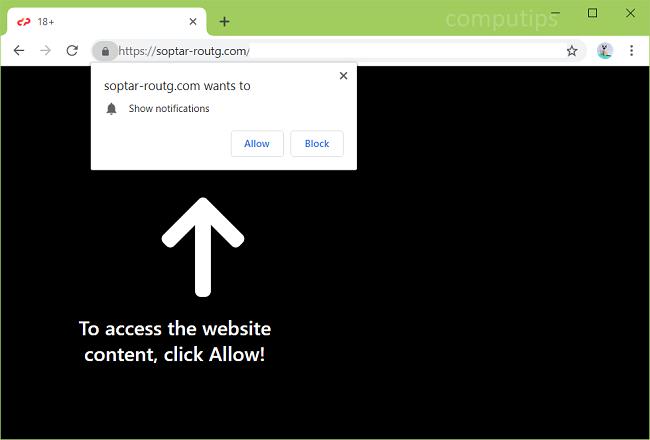 Delete https://soptar-routg.com virus notifications